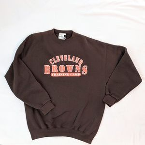 VTG Cleveland Browns Puma Training Logo Sweatshirt